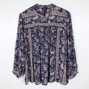 Lucky Brand Floral Boho Blouse XL